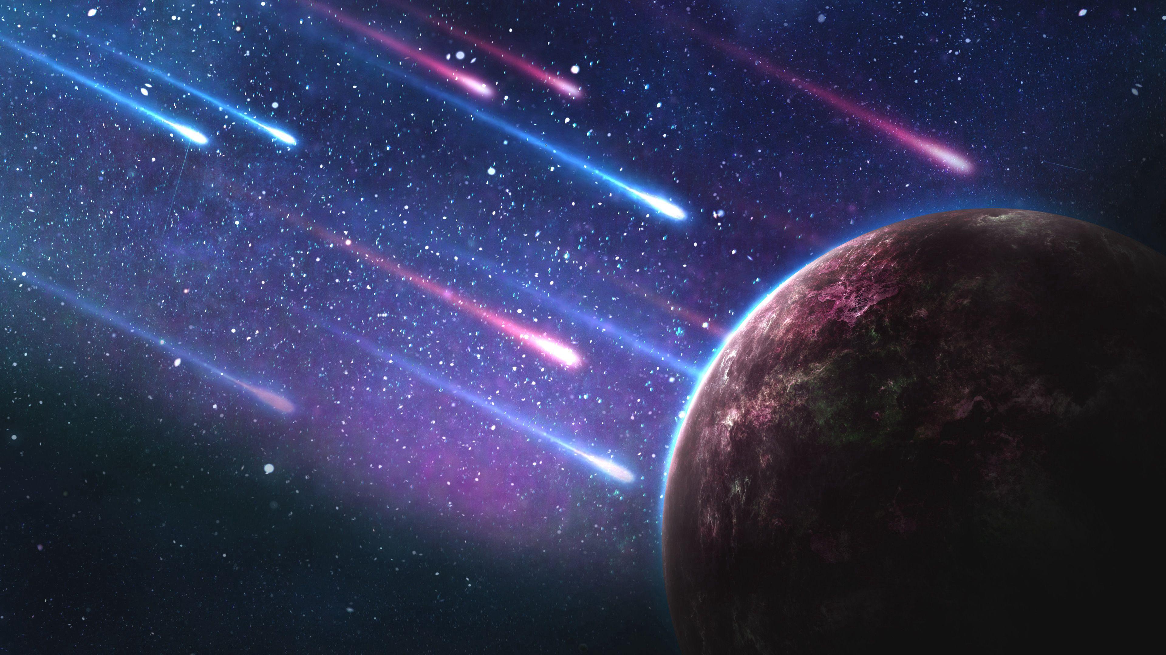 154733 Hintergrundbild herunterladen Universum, Galaxis, Galaxy, Platz, Raum, Planet, Planeten, Meteoriten - Bildschirmschoner und Bilder kostenlos
