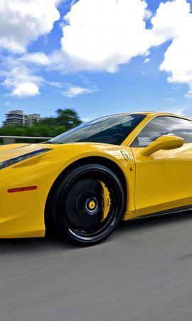 112886 télécharger le fond d'écran Voitures, Ferrari, 458, Italie, Italia, Vue De Côté, Circulation, Mouvement - économiseurs d'écran et images gratuitement