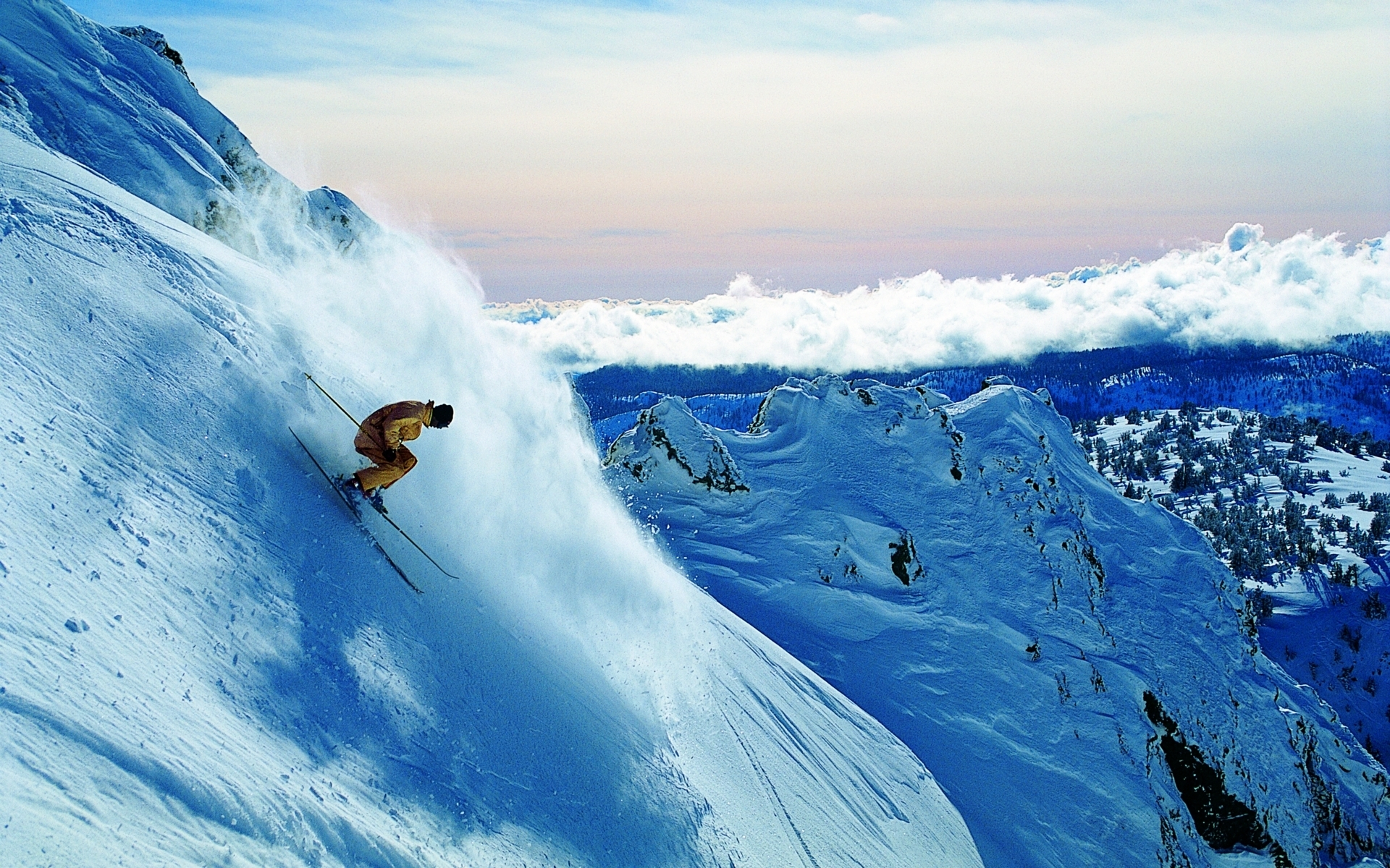 3426 download wallpaper Sports, Winter, Mountains, Snow screensavers and pictures for free