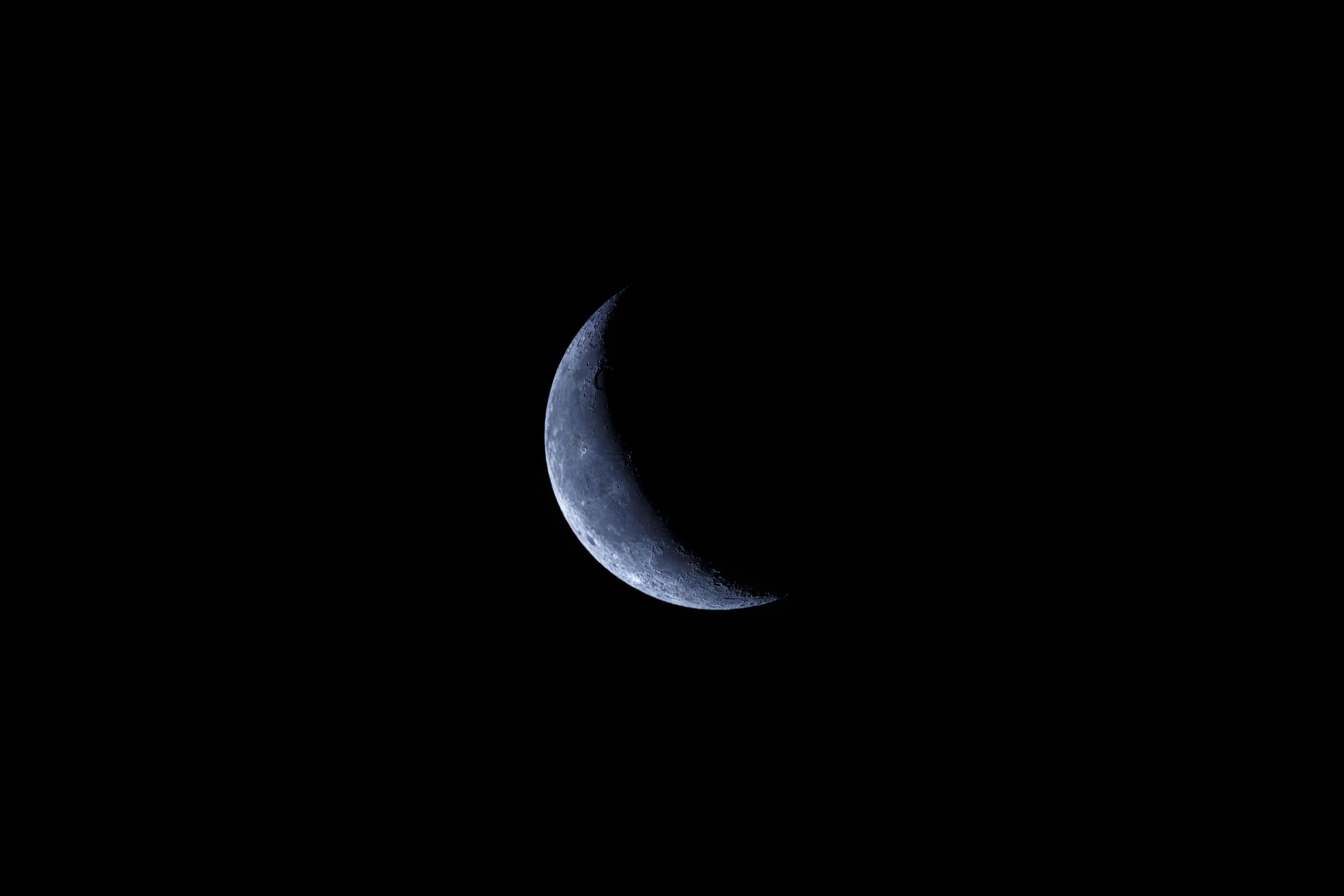116175 скачать Черные обои на телефон бесплатно, Ночь, Луна, Черный, Тень, Кратеры Черные картинки и заставки на мобильный