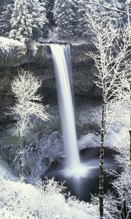 50314 скачать обои Пейзаж, Зима, Природа, Водопады, Снег - заставки и картинки бесплатно