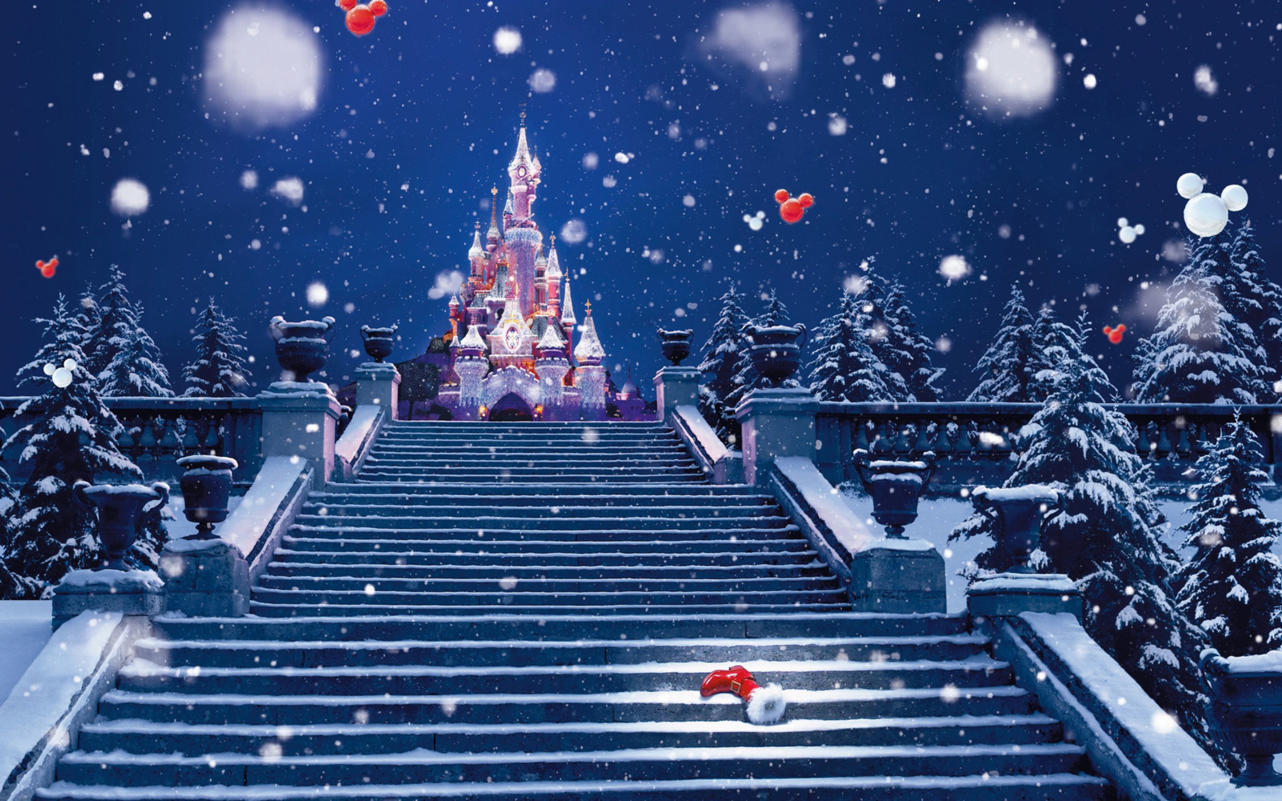 42634 download wallpaper Winter, Castles screensavers and pictures for free