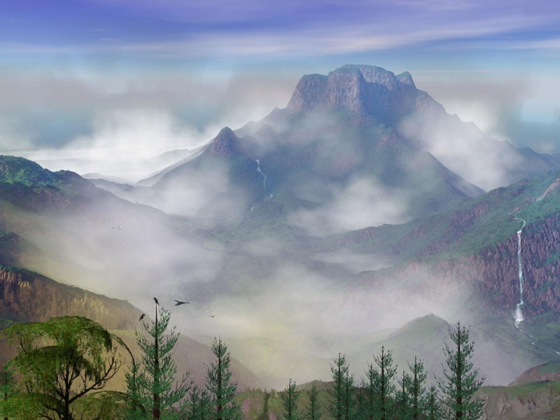 32209 download wallpaper Landscape, Mountains screensavers and pictures for free