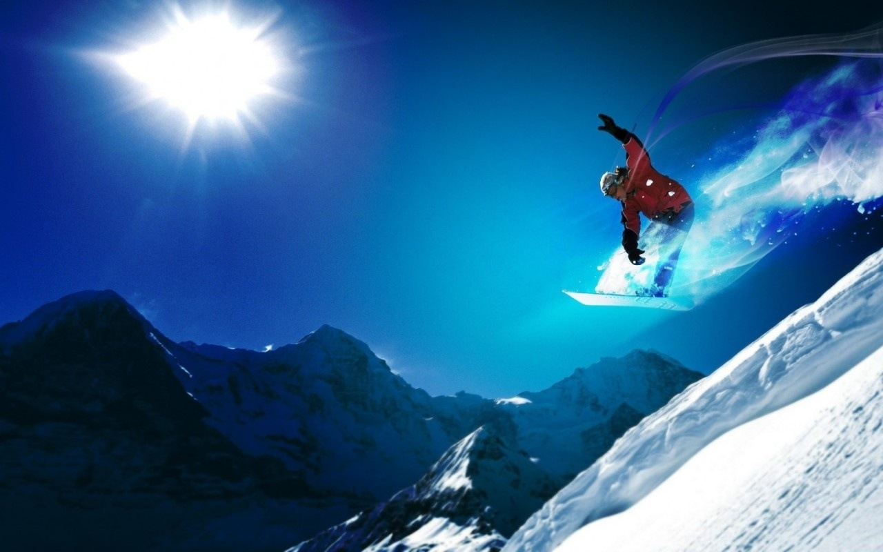 Download mobile wallpaper Snowboarding, People, Men, Sports for free.