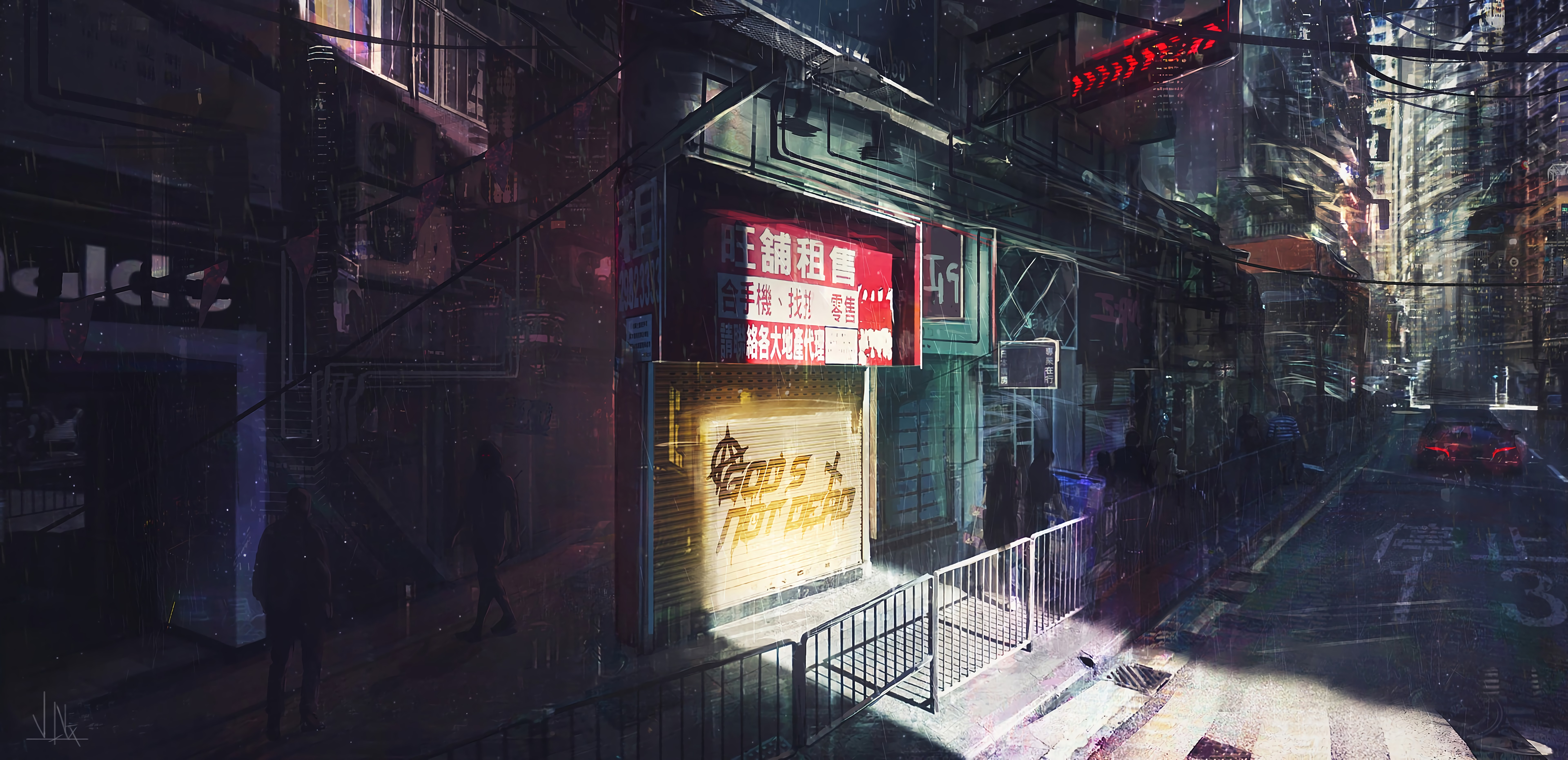 85772 Screensavers and Wallpapers City for phone. Download Art, Night, City, Traffic, Movement, Cyberpunk pictures for free