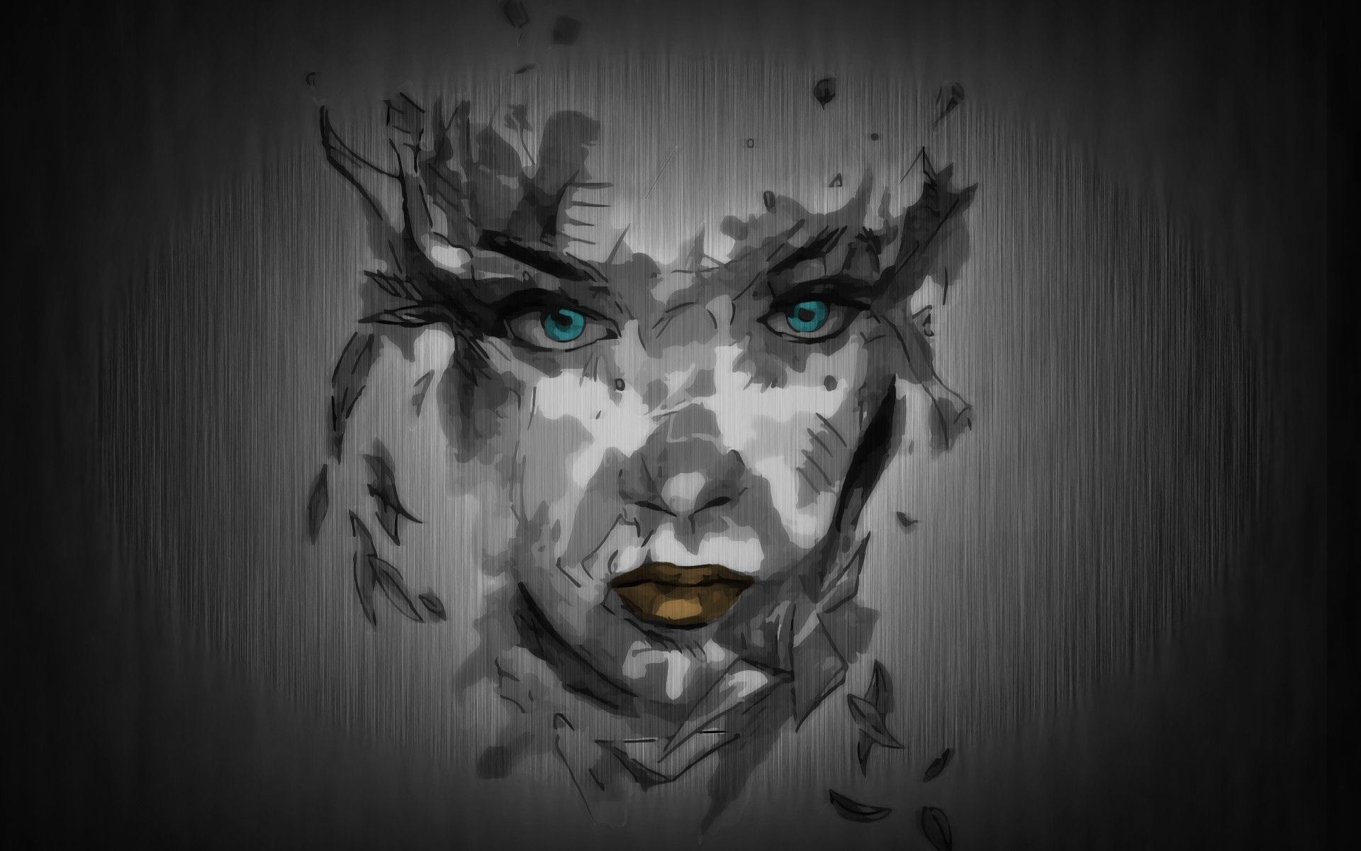 115192 download wallpaper Abstract, Face, Paint, Background screensavers and pictures for free