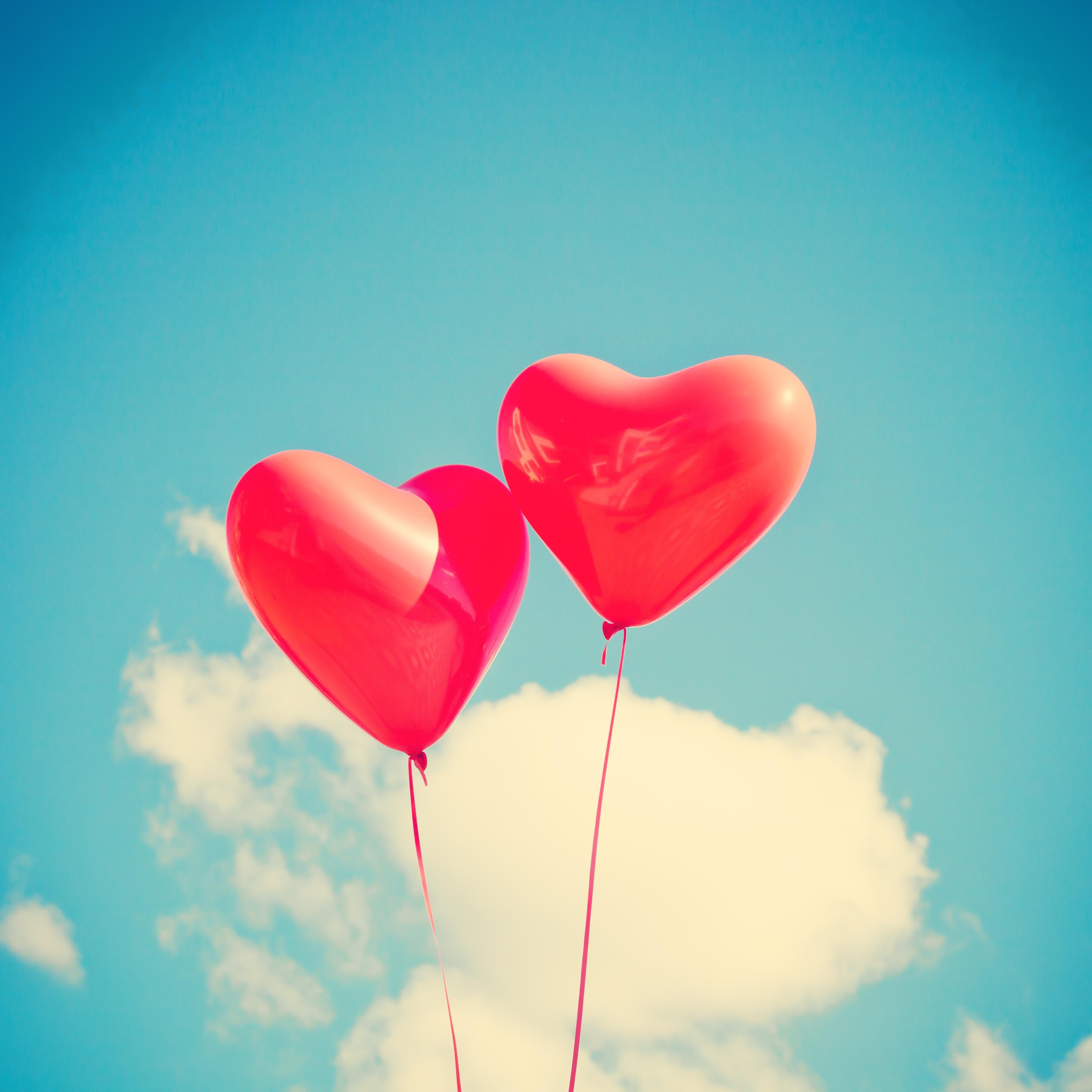 112468 скачать обои Сердце, Любовь, Небо, Легкость, Воздушные Шары - заставки и картинки бесплатно