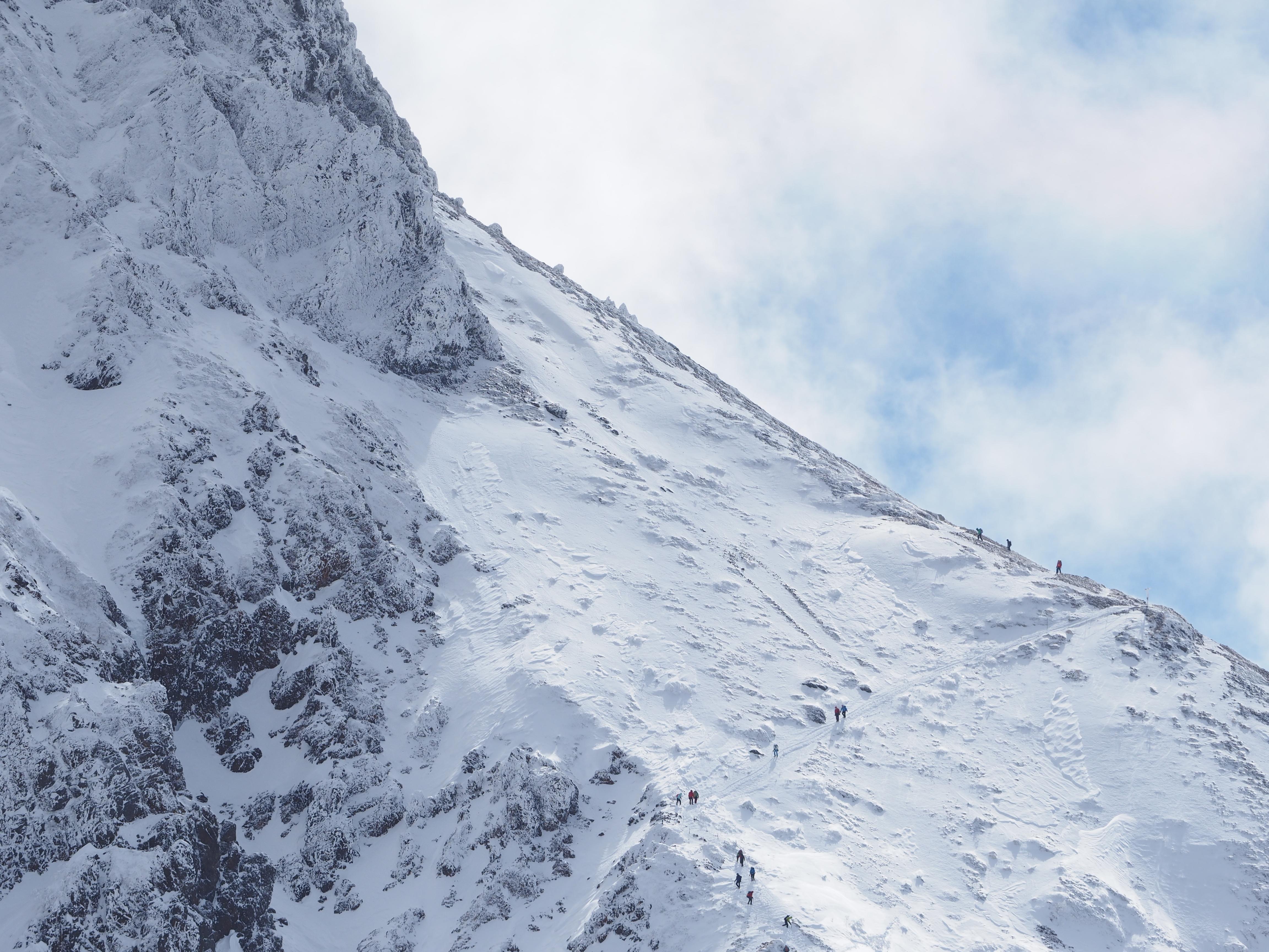 56482 descargar fondo de pantalla Naturaleza, Montaña, Pendiente, Cuesta, Nieve, Personas, Vista Desde Arriba: protectores de pantalla e imágenes gratis