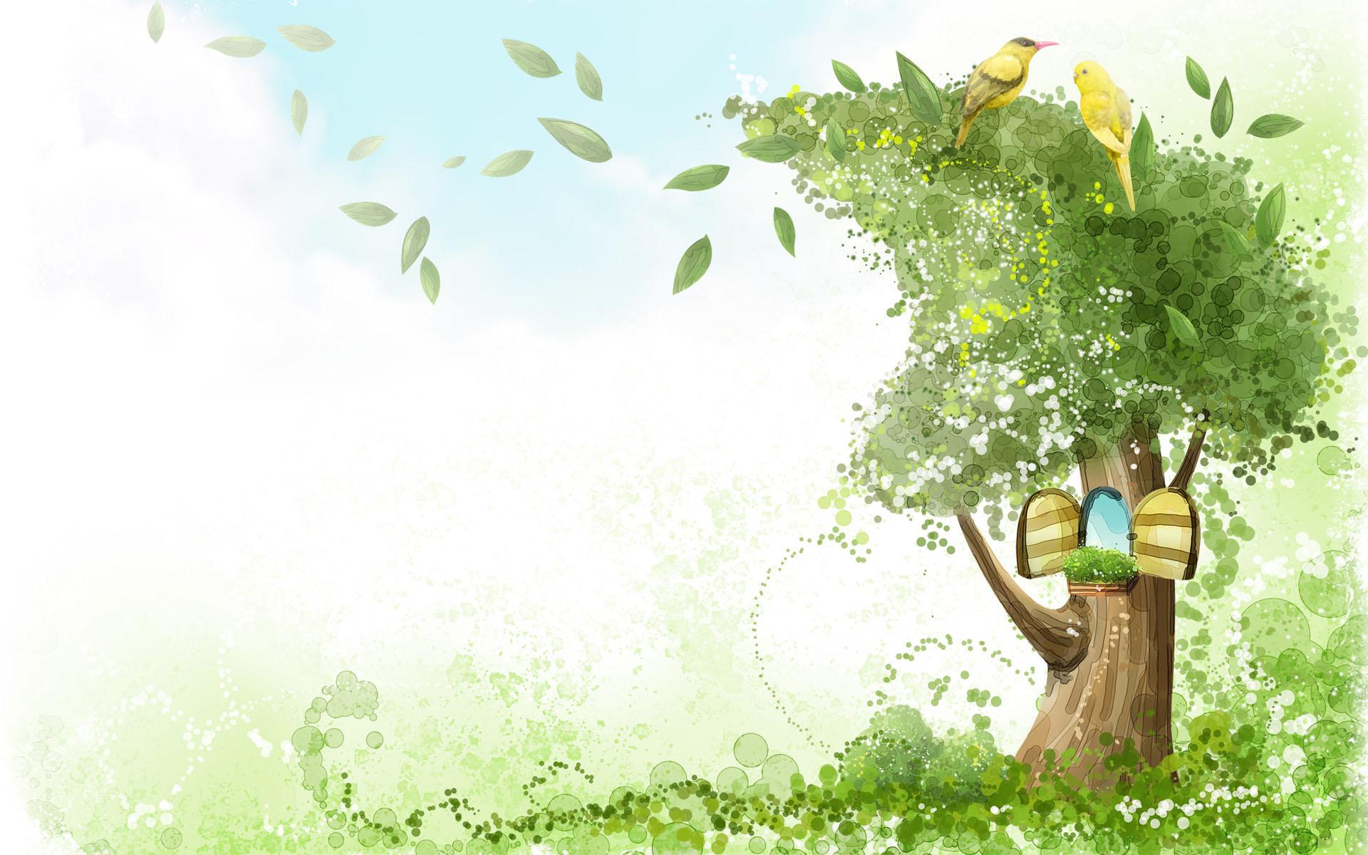 8620 скачать обои Деревья, Рисунки - заставки и картинки бесплатно