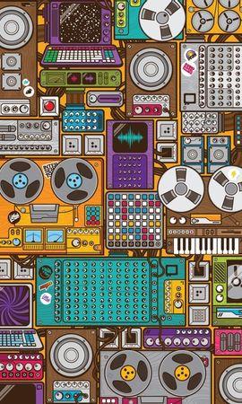 12278 скачать обои Музыка, Фон, Рисунки - заставки и картинки бесплатно