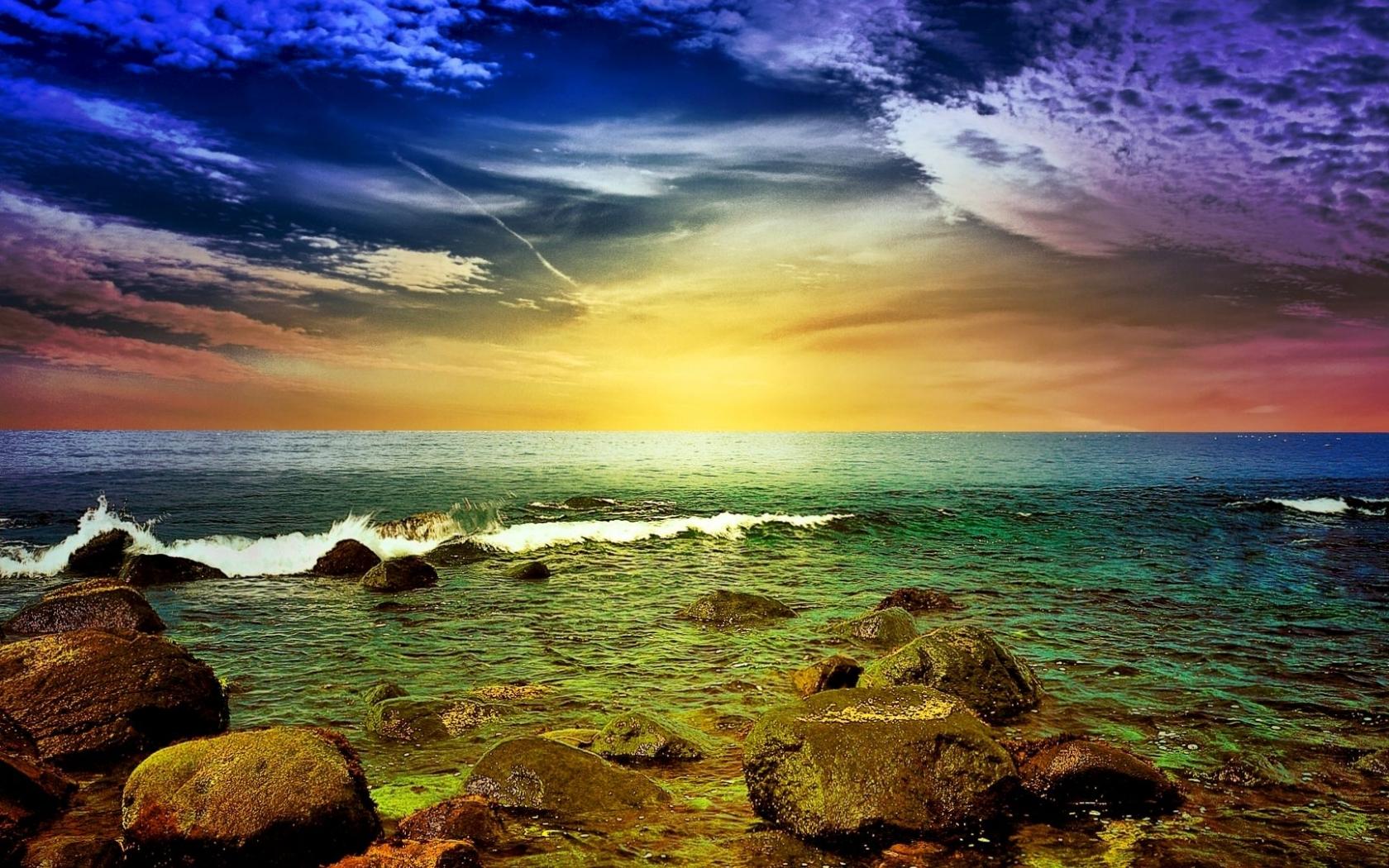 46040 скачать обои Пейзаж, Природа, Закат, Море - заставки и картинки бесплатно
