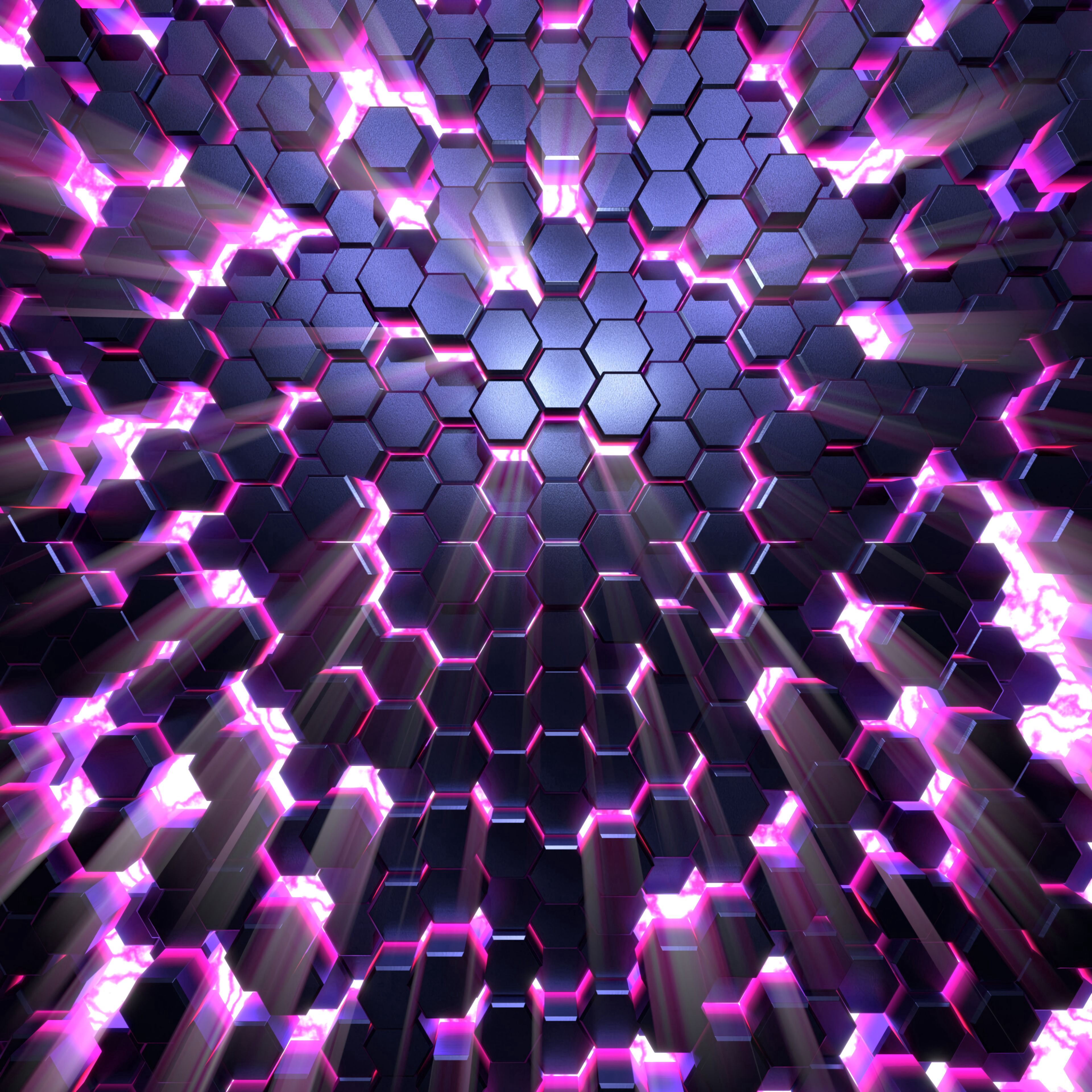 91330 download wallpaper 3D, Glow, Volume, Honeycomb screensavers and pictures for free
