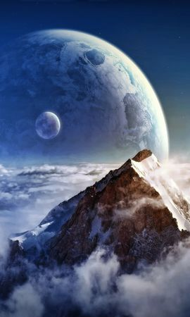 33704 скачать обои Пейзаж, Фэнтези, Планеты, Горы - заставки и картинки бесплатно
