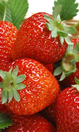 7658 baixe gratuitamente papéis de parede de Vermelho para seu telefone, Frutas, Comida, Morango, Berries imagens e protetores de tela de Vermelho para seu celular