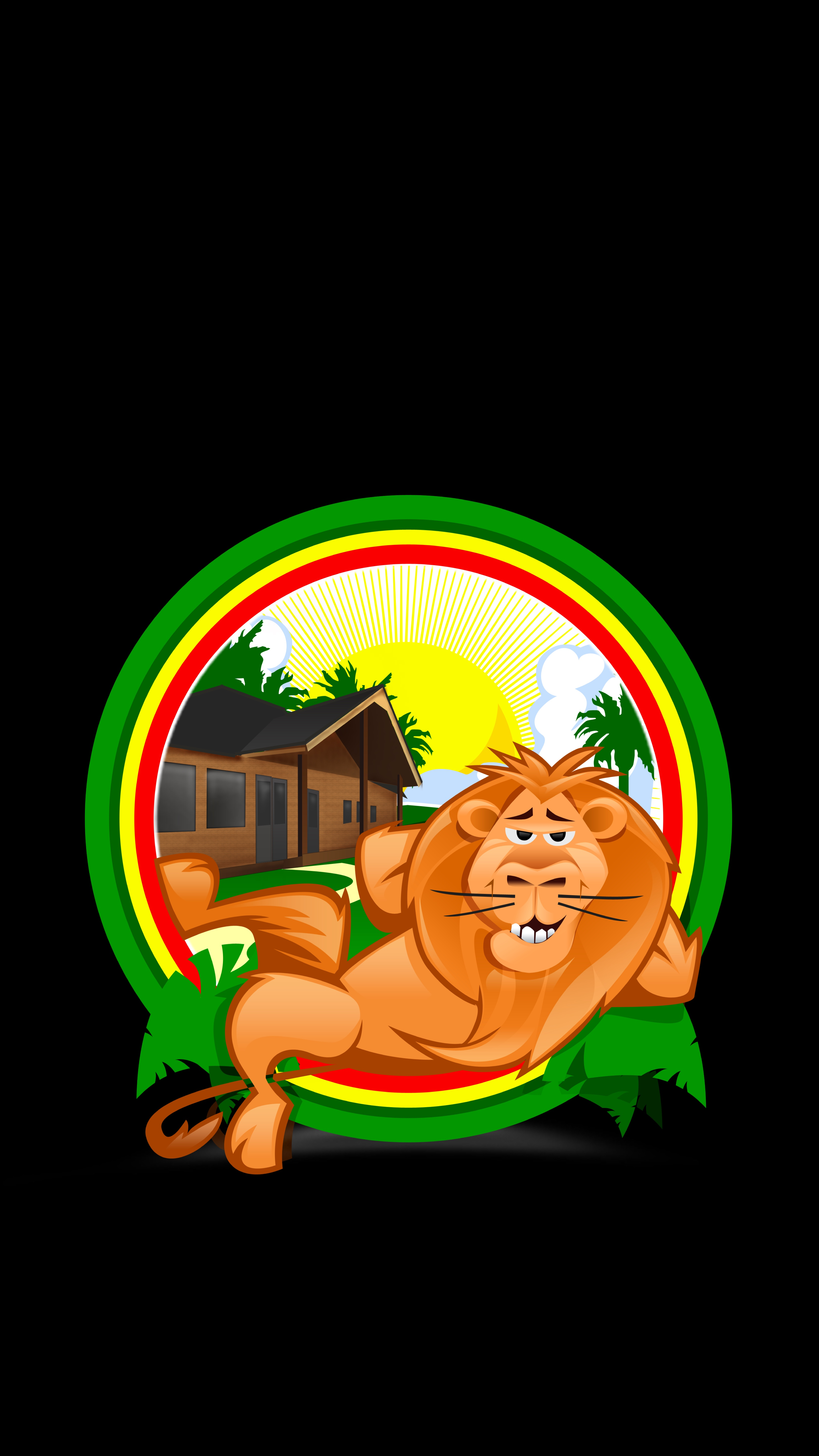 Download mobile wallpaper Tropics, Vector, Lion, Relaxation, Rest, Funny for free.