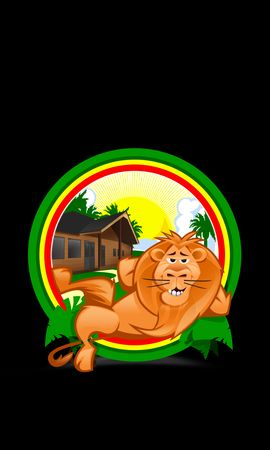 74760 download wallpaper Vector, Lion, Relaxation, Rest, Funny, Tropics screensavers and pictures for free