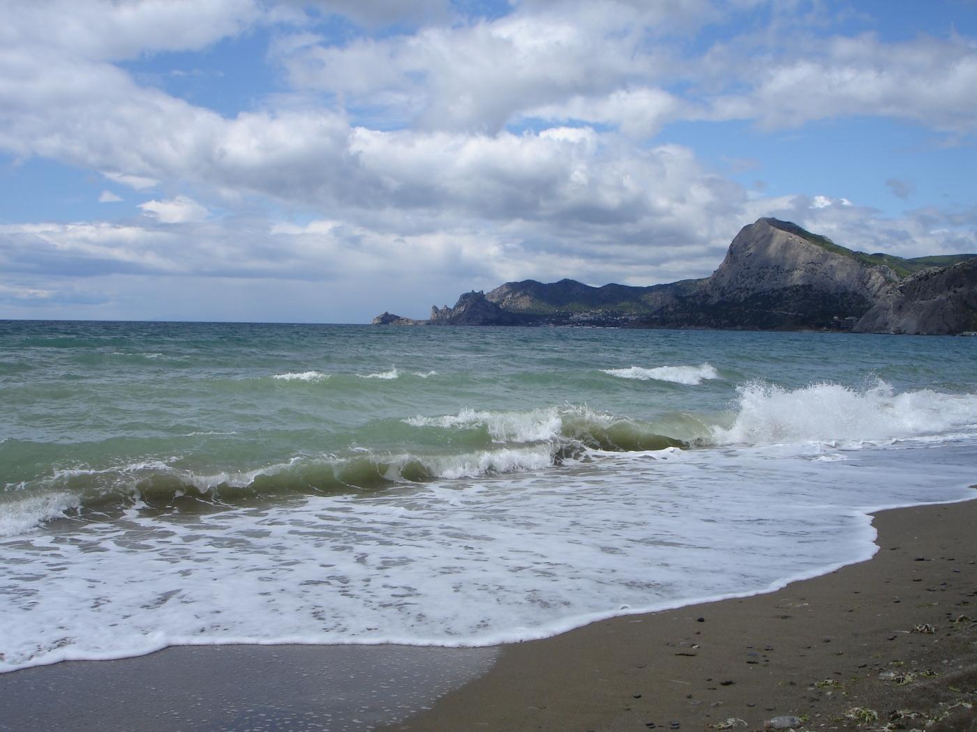 23690 скачать обои Пейзаж, Горы, Море, Волны, Пляж - заставки и картинки бесплатно