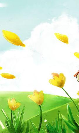 9431 скачать обои Пейзаж, Цветы, Рисунки - заставки и картинки бесплатно