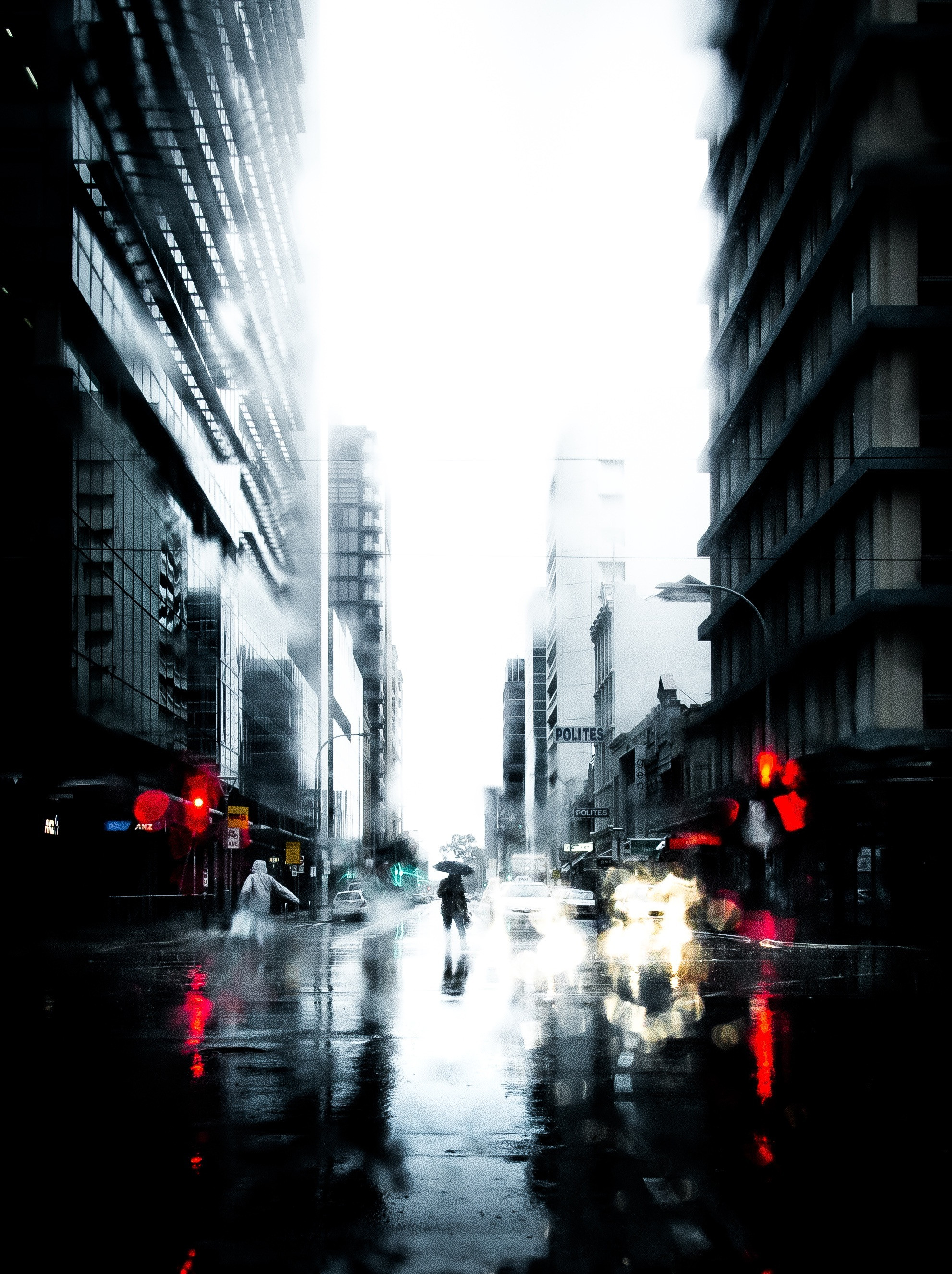 145842 Screensavers and Wallpapers City for phone. Download Silhouette, Cities, Rain, City, Loneliness pictures for free