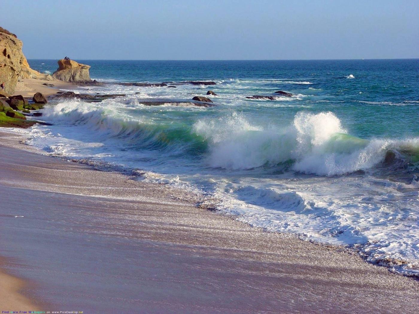 23289 скачать обои Пейзаж, Море, Волны, Пляж - заставки и картинки бесплатно