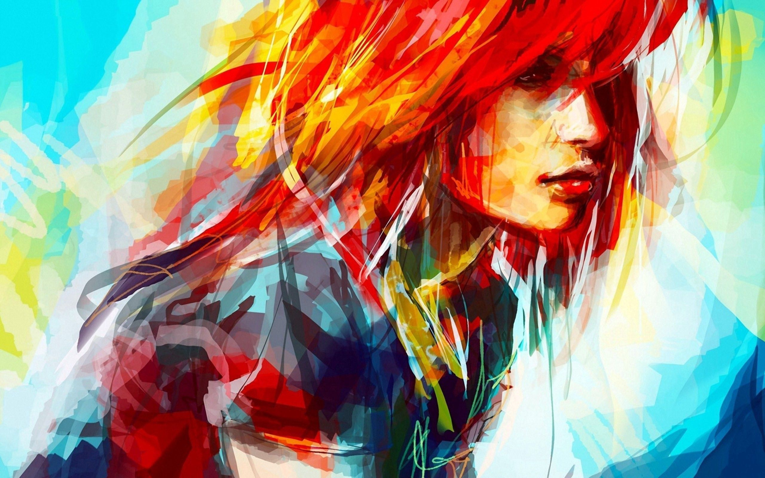 102646 Screensavers and Wallpapers Paint for phone. Download Art, Paint, Portrait, Brush, Face, Hayley Williams, Celebrity pictures for free