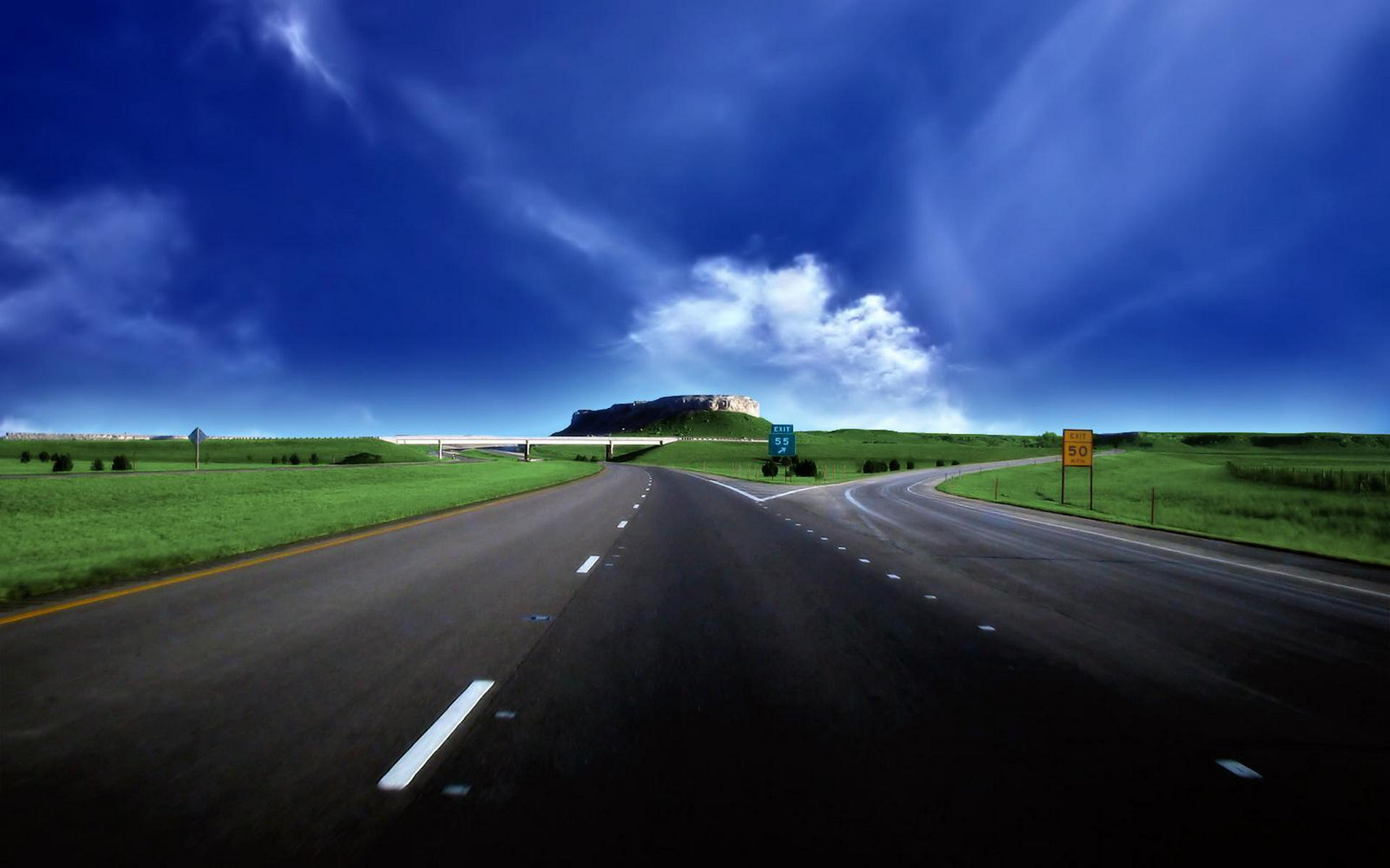 25965 скачать обои Пейзаж, Небо, Дороги, Облака - заставки и картинки бесплатно