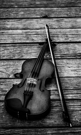 147869 Screensavers and Wallpapers Music for phone. Download Music, Violin, Bw, Chb, Bow, Musical Instrument pictures for free