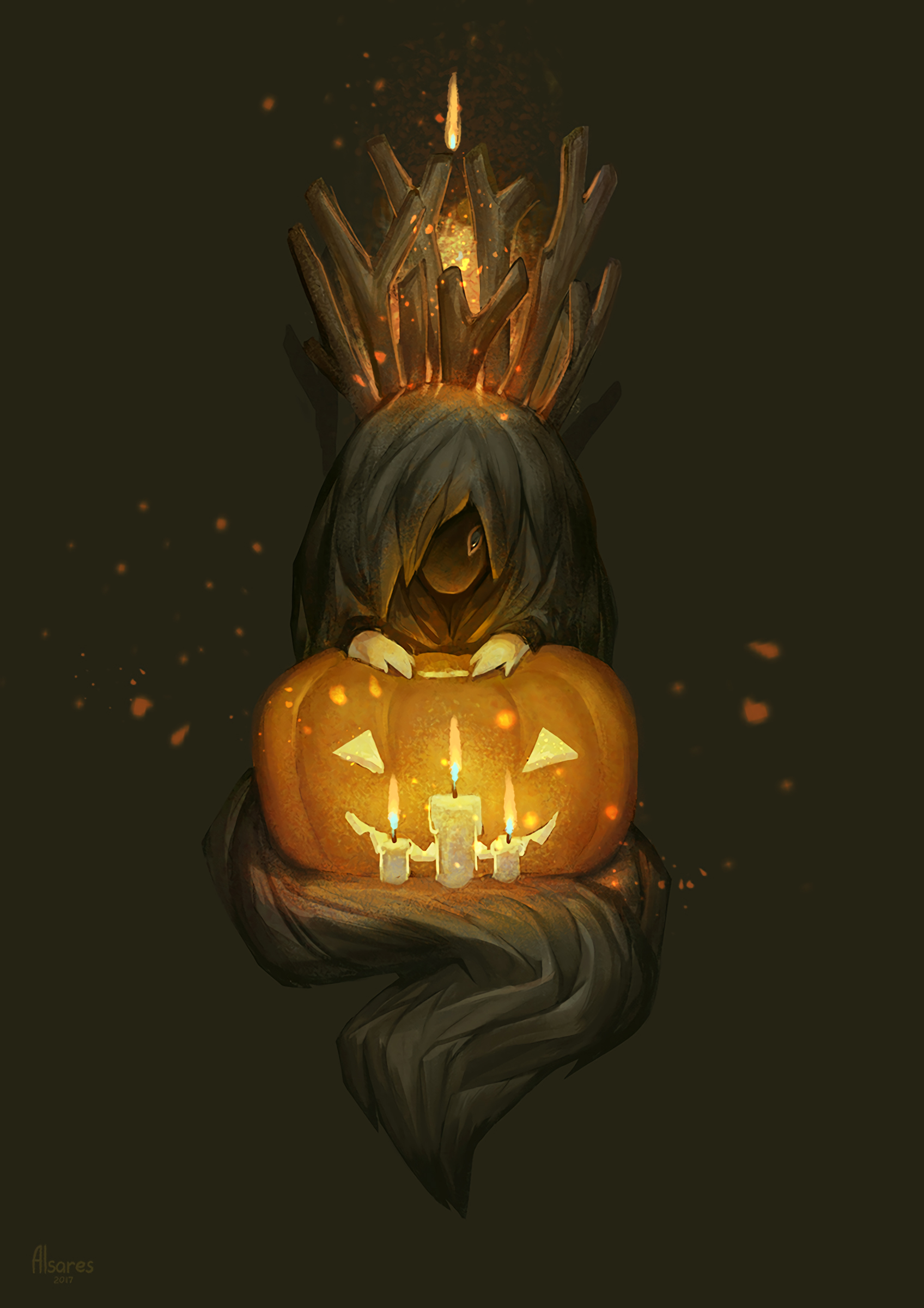 118772 Screensavers and Wallpapers Pumpkin for phone. Download Art, Candles, Pumpkin, Monster pictures for free