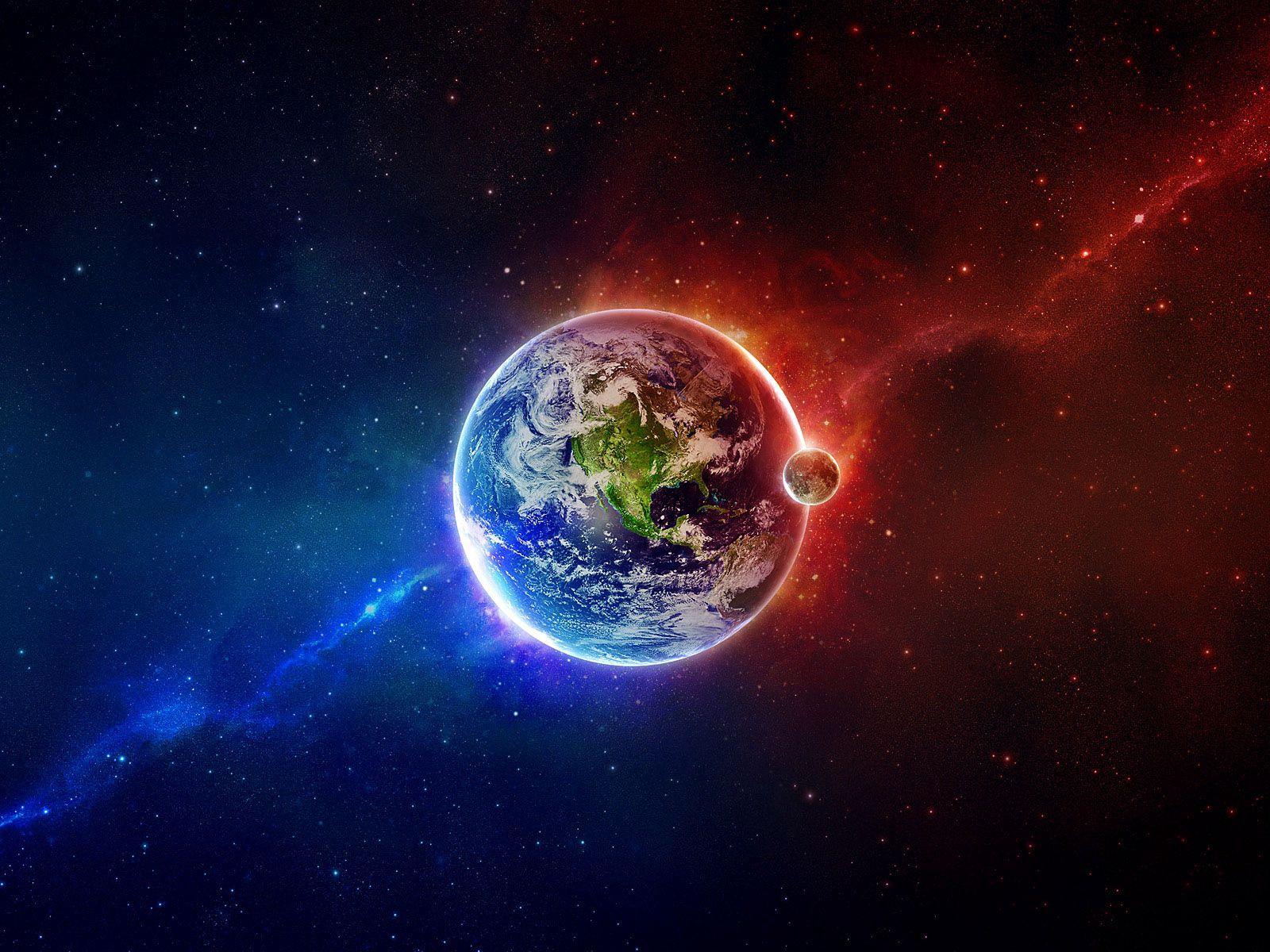131795 завантажити Помаранчевий шпалери на телефон безкоштовно, Космос, Баланс, Синій, Земля, Оранжевий, Планета, Елементи, Стихії Помаранчевий картинки і заставки на мобільний