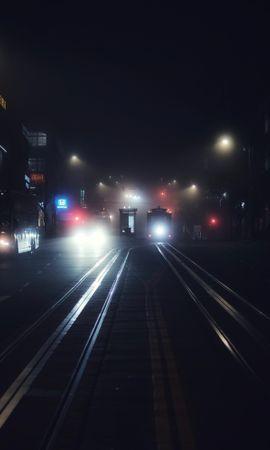 58678 descargar fondo de pantalla Oscuro, Ciudad De Noche, Ciudad Nocturna, Transporte, Niebla, Noche, San Francisco, Ee.uu, Estados Unidos: protectores de pantalla e imágenes gratis