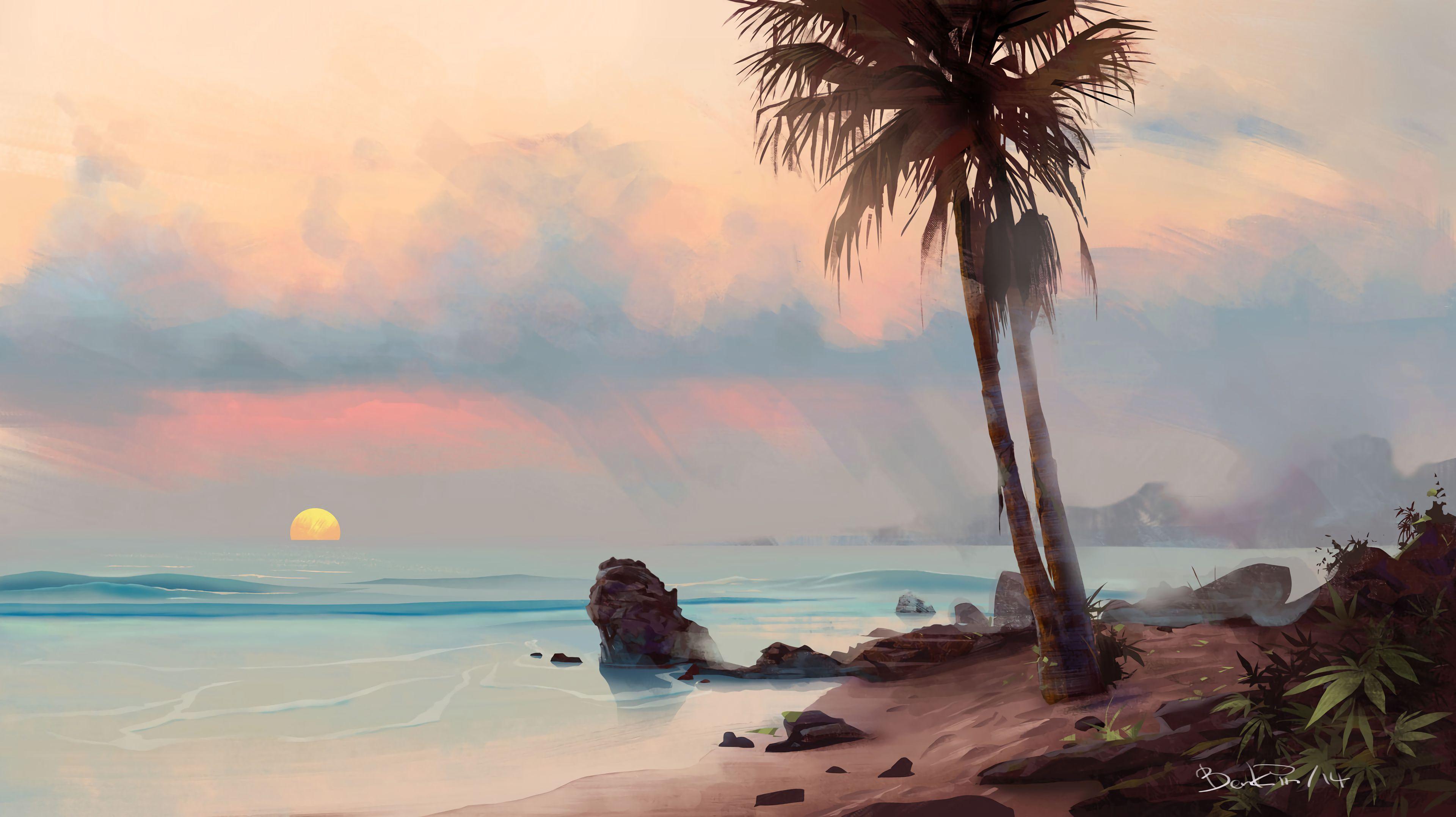 117437 免費下載壁紙 棕榈, 帕尔马, 海滩, 艺术, 支撑, 海岸, 热带, 热带地区 屏保和圖片