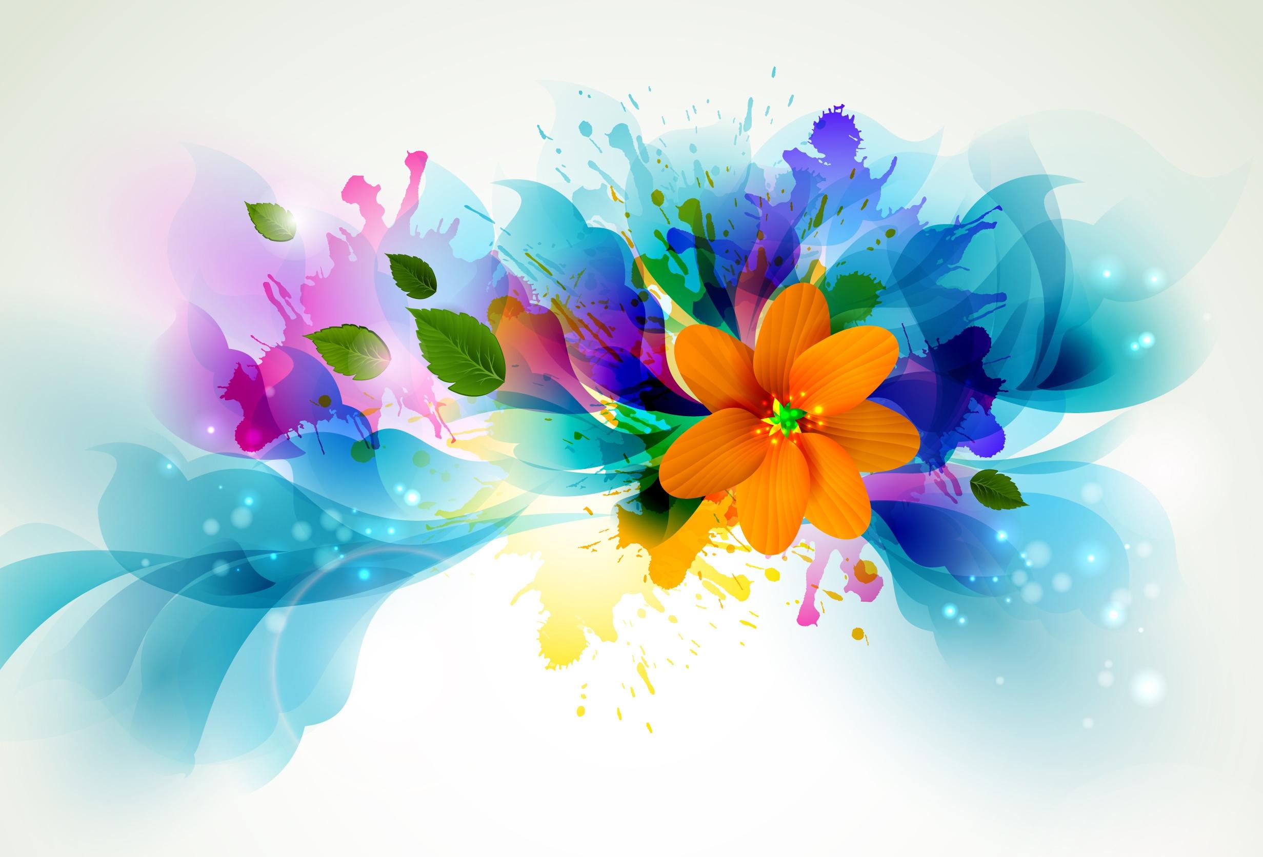 89653 Hintergrundbild herunterladen Vektor, Blume, Blütenblätter, Farbe - Bildschirmschoner und Bilder kostenlos