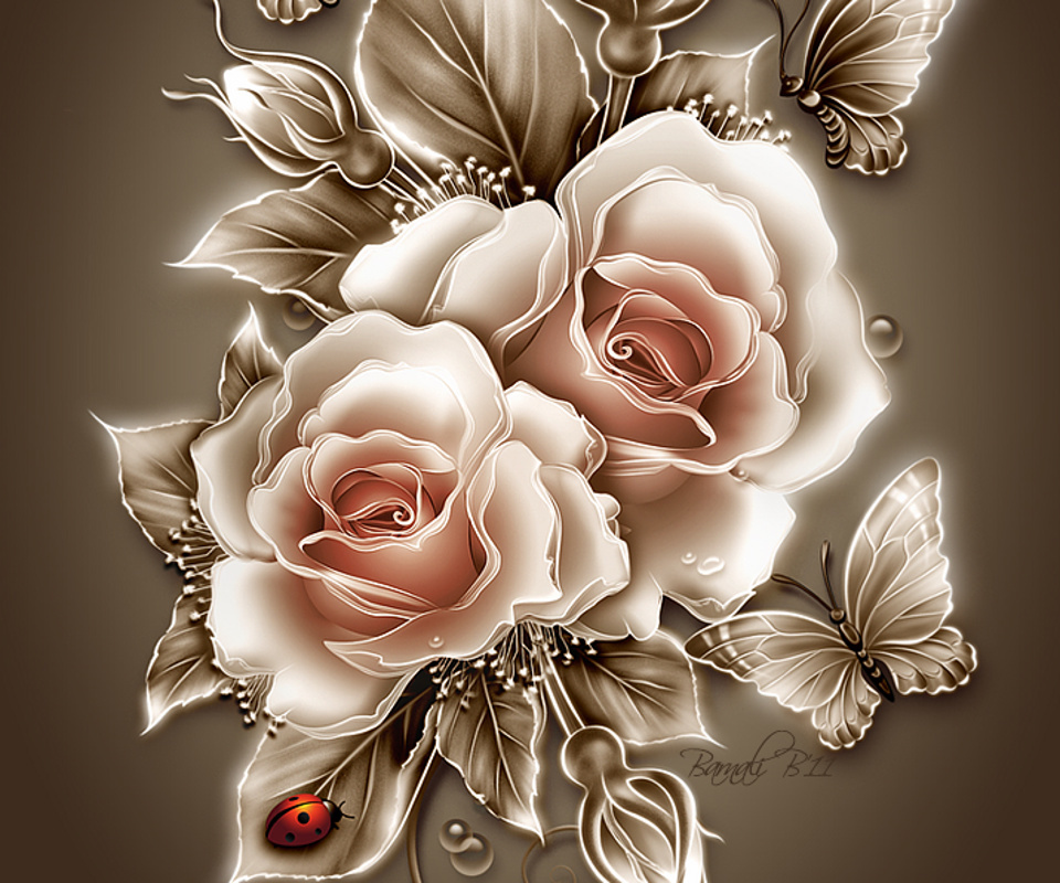 12504 Hintergrundbild herunterladen Blumen, Pflanzen, Bilder, Roses - Bildschirmschoner und Bilder kostenlos