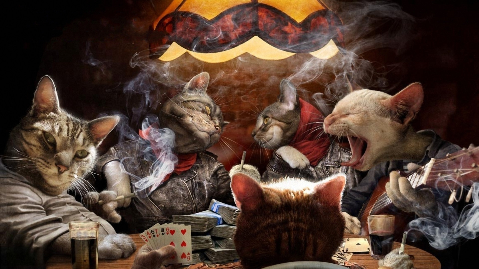 49890 скачать обои Животные, Кошки (Коты, Котики), Рисунки - заставки и картинки бесплатно