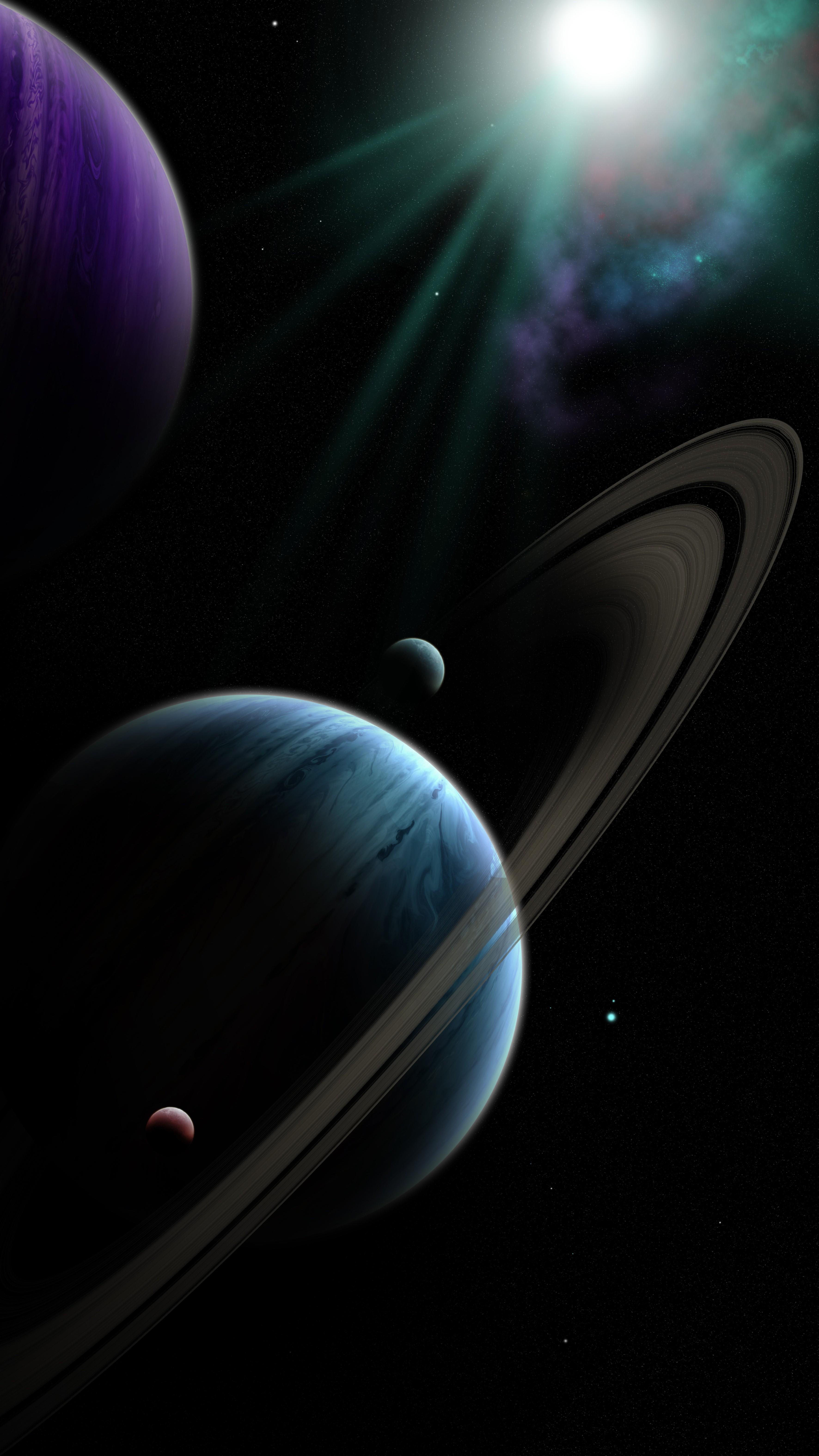 129928 Заставки и Обои Планеты на телефон. Скачать Планеты, Галактика, Космос, Сияние, Темный, Вселенная картинки бесплатно