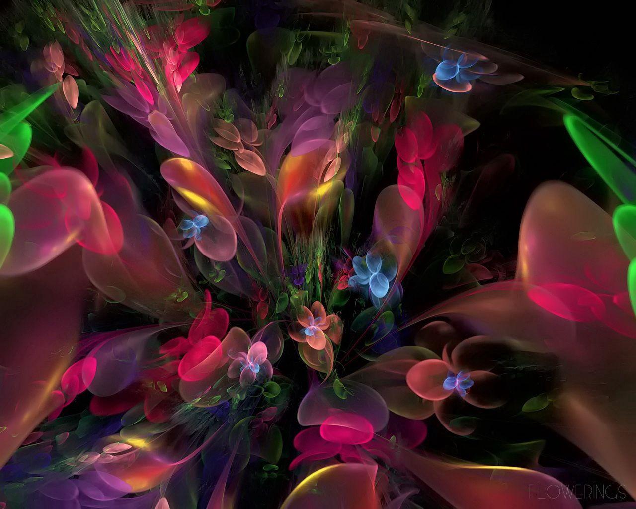133010 скачать обои Абстракция, Разноцветный, Цветы, Дым, Фрактал - заставки и картинки бесплатно