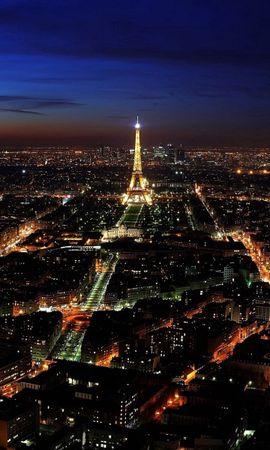 67955 baixar papel de parede Paris, França, Noite, Vista De Cima, Ver De Cima, Luzes Da Cidade, Cidades - protetores de tela e imagens gratuitamente