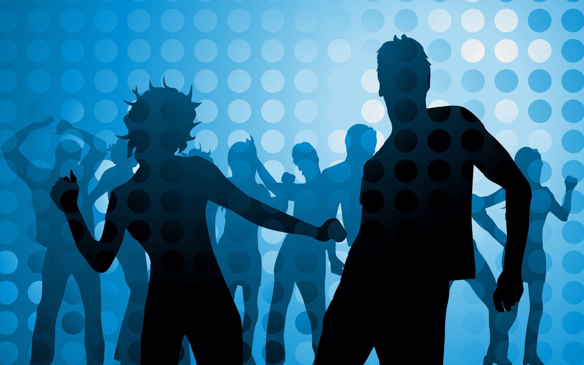 61693 скачать обои Танцы, Люди, Вектор, Круги, Дискотека - заставки и картинки бесплатно