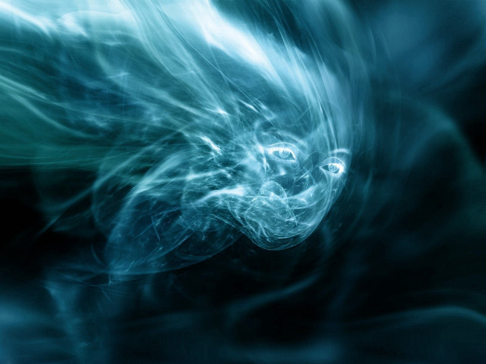 78832 download wallpaper Abstract, Face, Fear, Form, Image, Imagination, Smoke screensavers and pictures for free