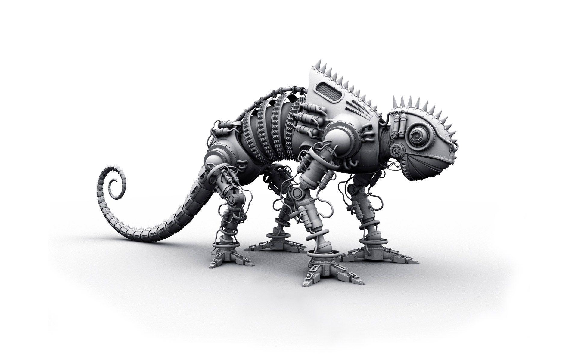 62678 скачать обои 3D, Динозавр, Металл, Форма, Серый, Игрушка - заставки и картинки бесплатно