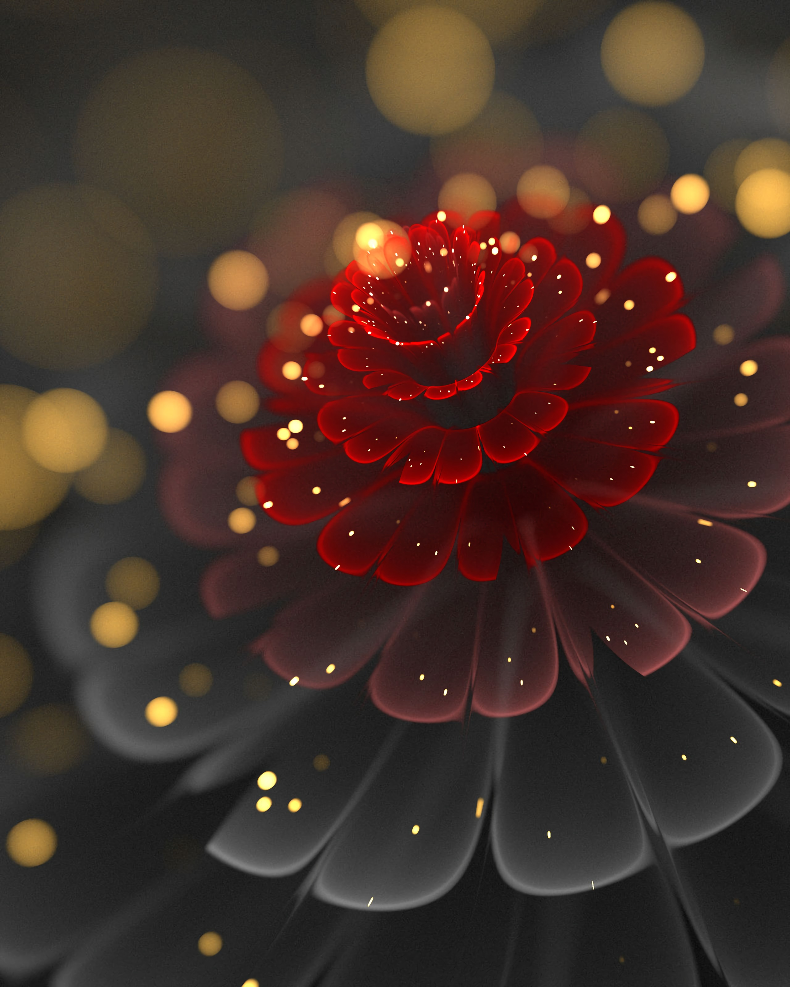 79756 download wallpaper Abstract, Flower, Glare, Shine, Brilliance, Fractal screensavers and pictures for free