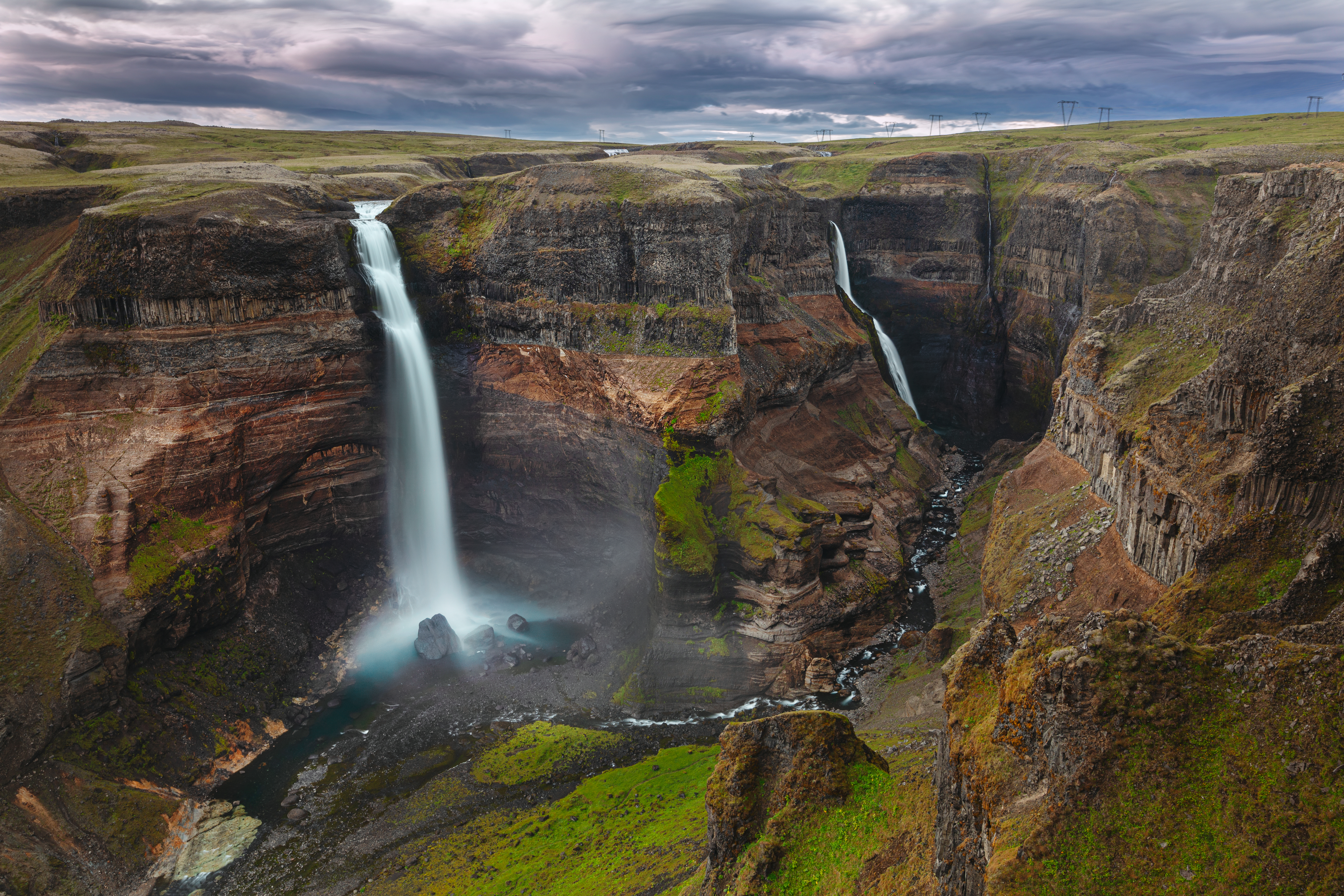 85273 download wallpaper Nature, Canyon, Waterfall, Break, Precipice screensavers and pictures for free