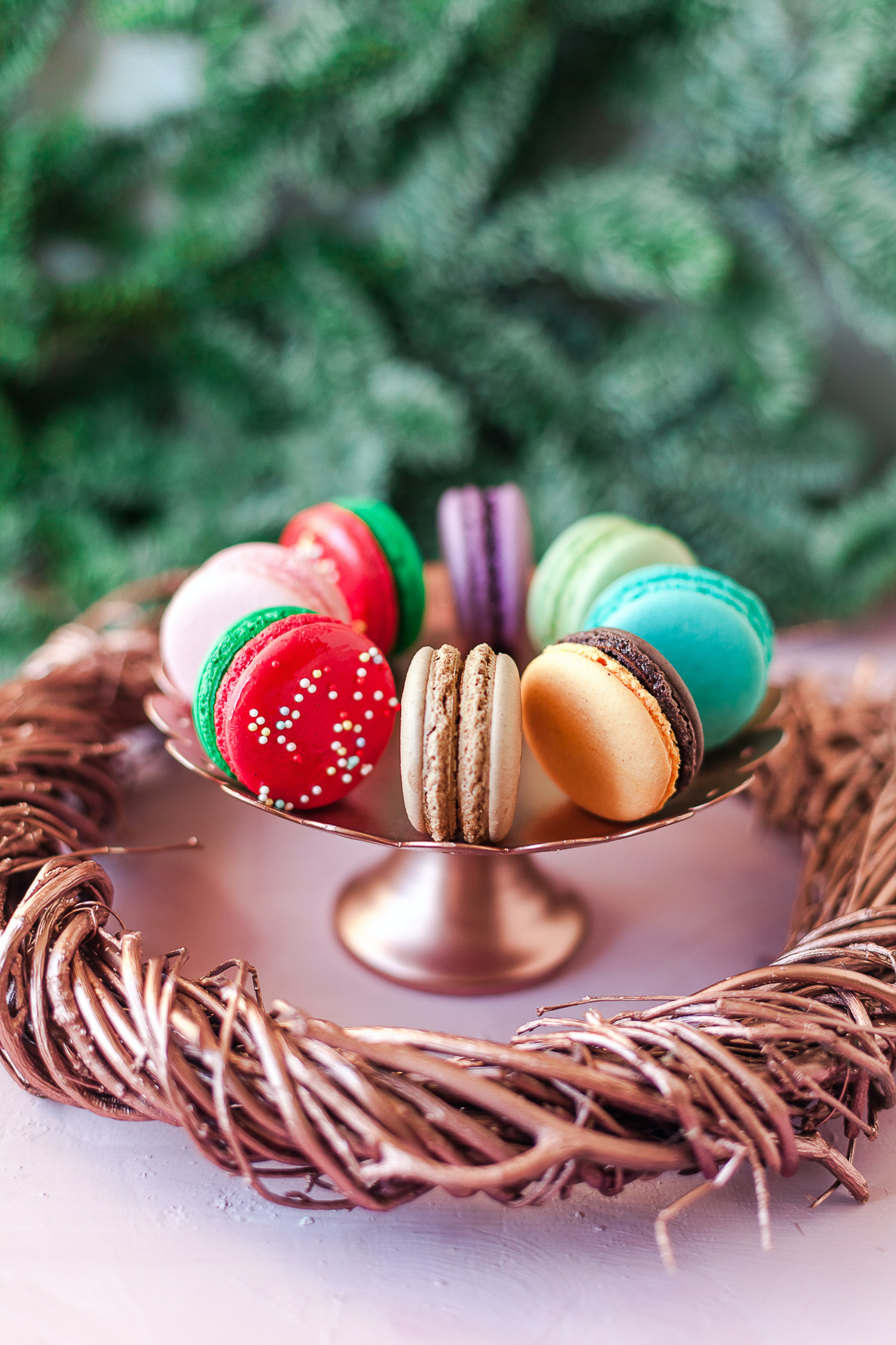 90228 download wallpaper Food, Desert, Cookies, Multicolored, Motley, Macaroons, Makaroons screensavers and pictures for free