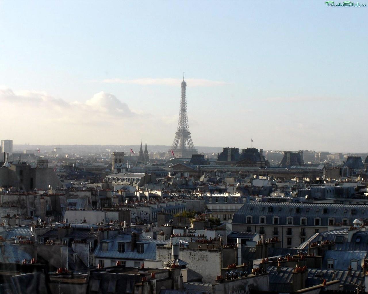 Скачать картинку Пейзаж, Города, Архитектура, Париж, Эйфелева Башня в телефон бесплатно.