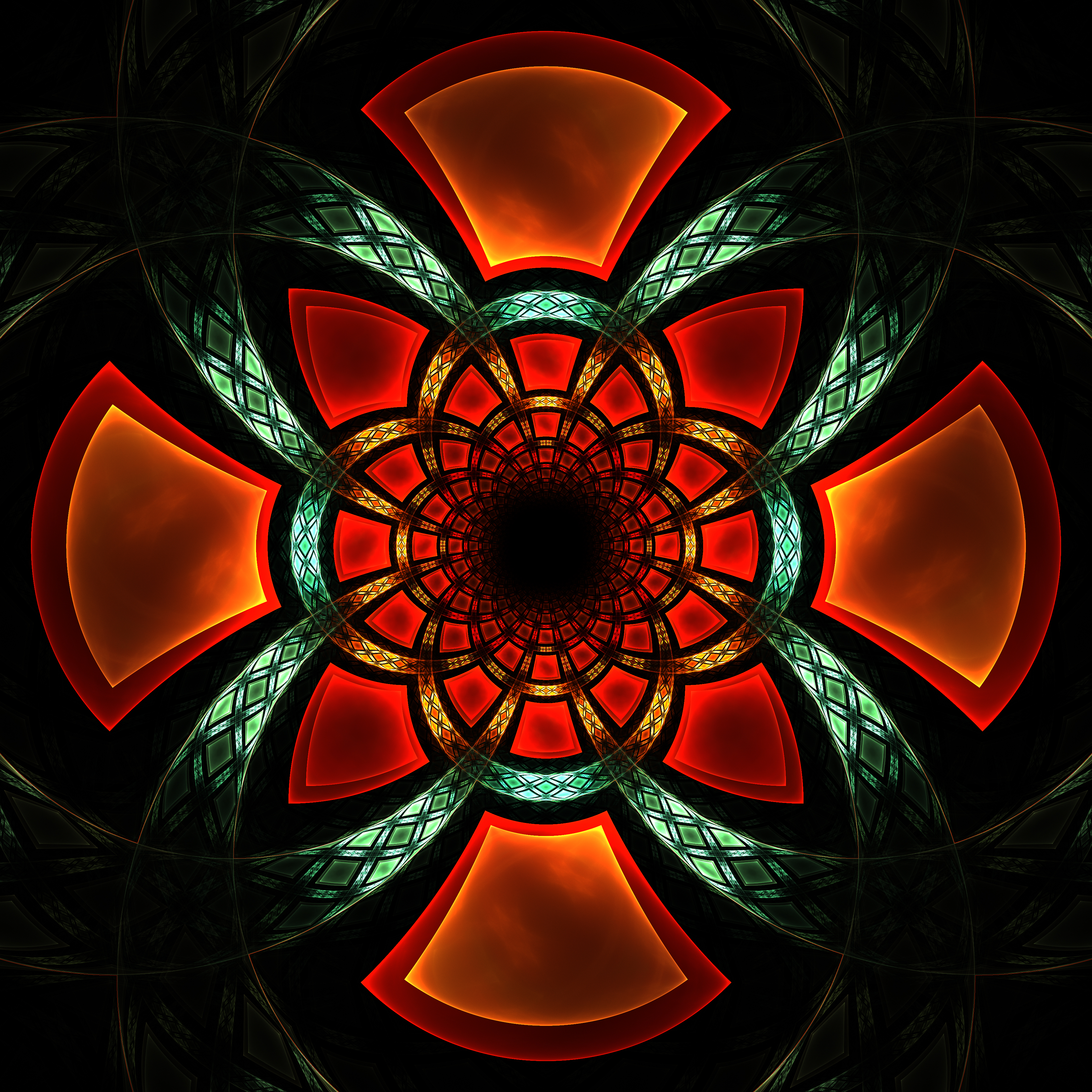 108029 download wallpaper Abstract, Fractal, Symmetry, Glow, Pattern screensavers and pictures for free