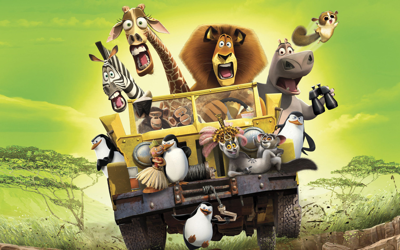 22541 download wallpaper Cartoon, Madagascar screensavers and pictures for free