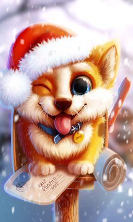 127649 Salvapantallas y fondos de pantalla Nieve en tu teléfono. Descarga imágenes de Perro, Lindo, Querido, Buzón, Nieve, Arte gratis