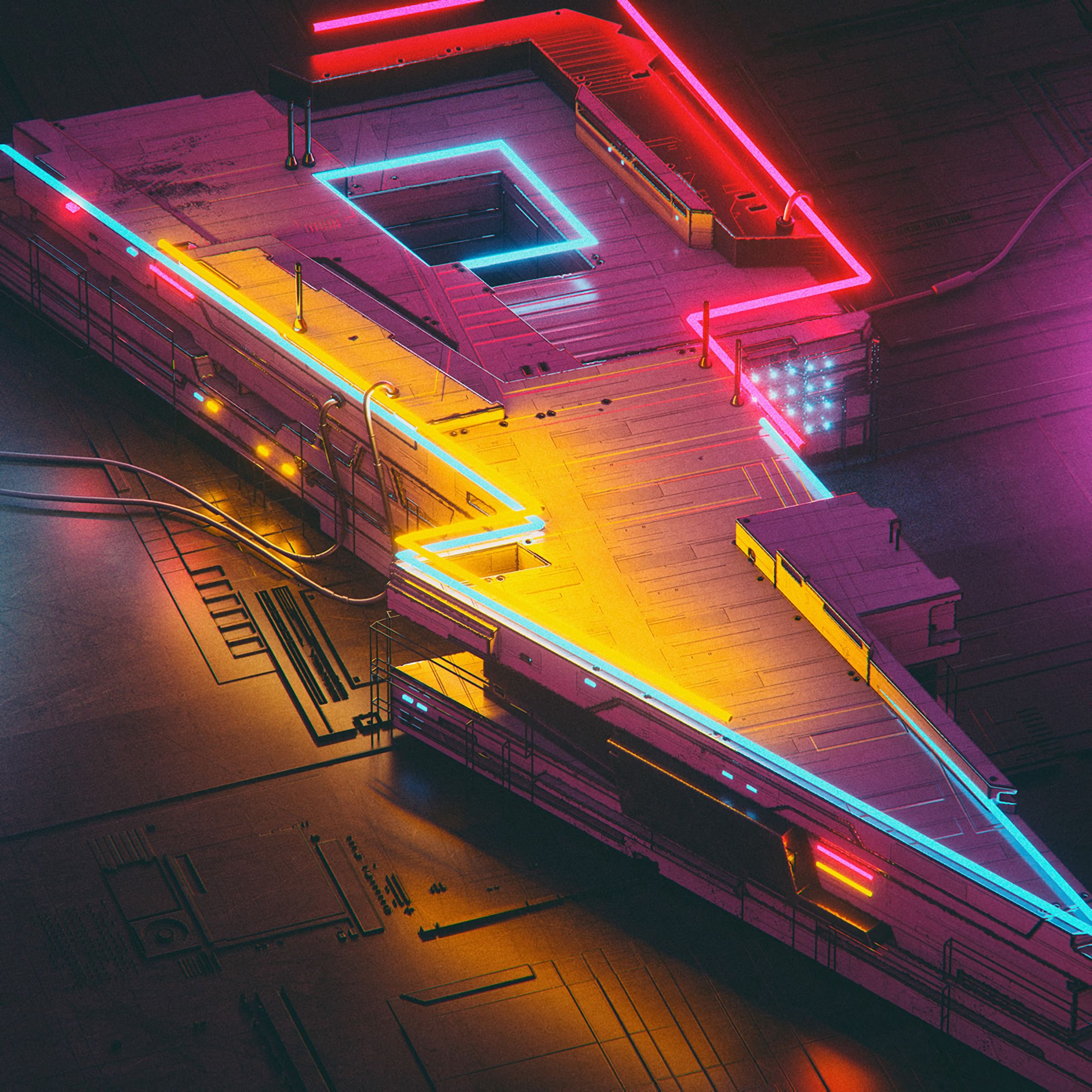 118638 download wallpaper Neon, Lightning, Art, Futurism screensavers and pictures for free