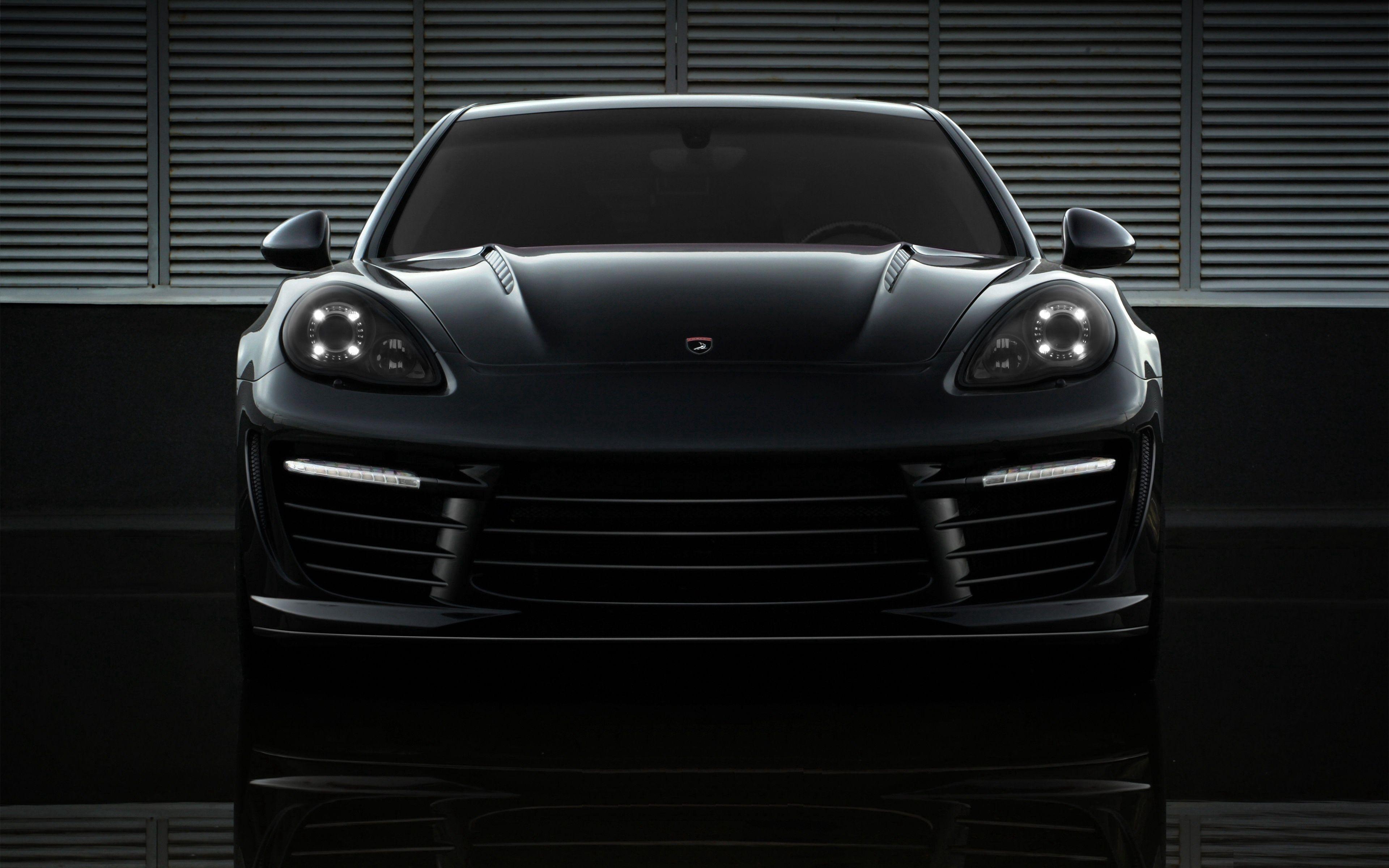 100691 скачать обои Тачки (Cars), Порш (Porsche), Машины, Черный, Вид Спереди - заставки и картинки бесплатно