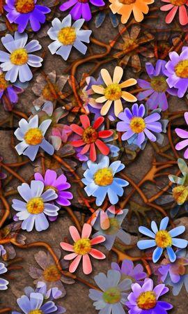 8242 скачать обои Цветы, Фон, Рисунки - заставки и картинки бесплатно